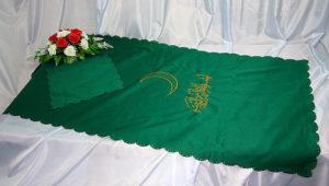 Покрывало мусульманское шёлковое зеленное