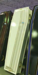 """Гроб """"СТАНДАРТ-6Б"""" Белый (Арт: ФС-6Б) на выставке """"НЕКРОПОЛЬ"""" Городская Похоронная Служба РИТУАЛ https://gps-ritual.ru/"""